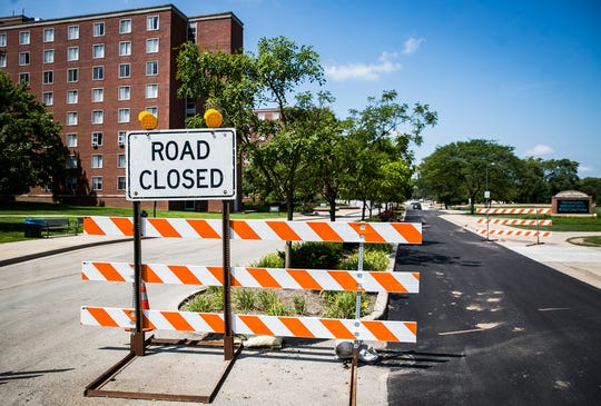 After a months-long closure of McKinley Avenue at Ball State, construction crews have finished a traffic circle north of Neely Avenue.