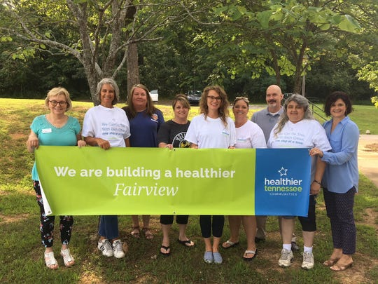 The Healthier Fairview Committee  (l-r) Patsy Watkins, Monica Willow, leslie Hammon, Terri Lavender, Kaitlyn Hoffart, Patti Carroll, Phillip McAndrew, Shari Lewis, and Dana Sanderson. Submitted