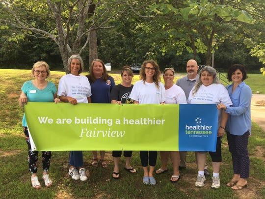 The Healthier Fairview Committee  (l-r) Patsy Watkins, Monica Willow, leslie Hammon, Terri Lavender, Kaitlyn Hoffart, Patti Carroll, Phillip McAndrew, Shari Lewis, and Dana Sanderson. Submitted