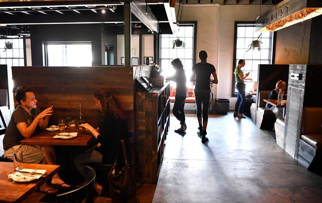 Employees at Butcher & Bee scramble to serve their tables July 18, 2018, as restaurants across Nashville have trouble filling positions because of a labor shortage.