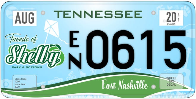 A specialty license plate for East Nashville's Friends of Shelby Park and Bottoms will be available for pre-order Aug. 10.