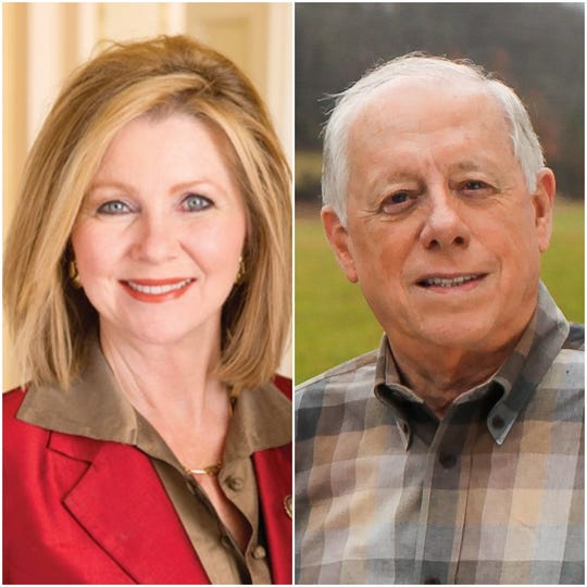 Republican Marsha Blackburn, left, and Democrat Phil Bredesen