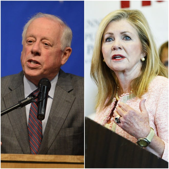 Democrat Phil Bredesen, left, and Republican Marsha Blackburn, will face off in the U.S. Senate race Nov. 6.