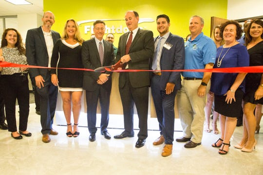 Flightdocs, the leading provider of cloud-based aircraft maintenance tracking, compliance and inventory management services, celebrated its expanded Bonita Springs presence with a new technology center during a ribbon-cutting Thursday, July 26, 2018. The 6,200-square-foot facility houses nearly 40 developers and technology experts.