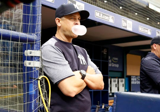 Aaron Boone is entering his second season managing the New York Yankees.