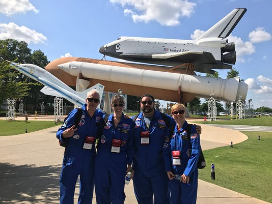 Ambassadors In Front Of Shuttle