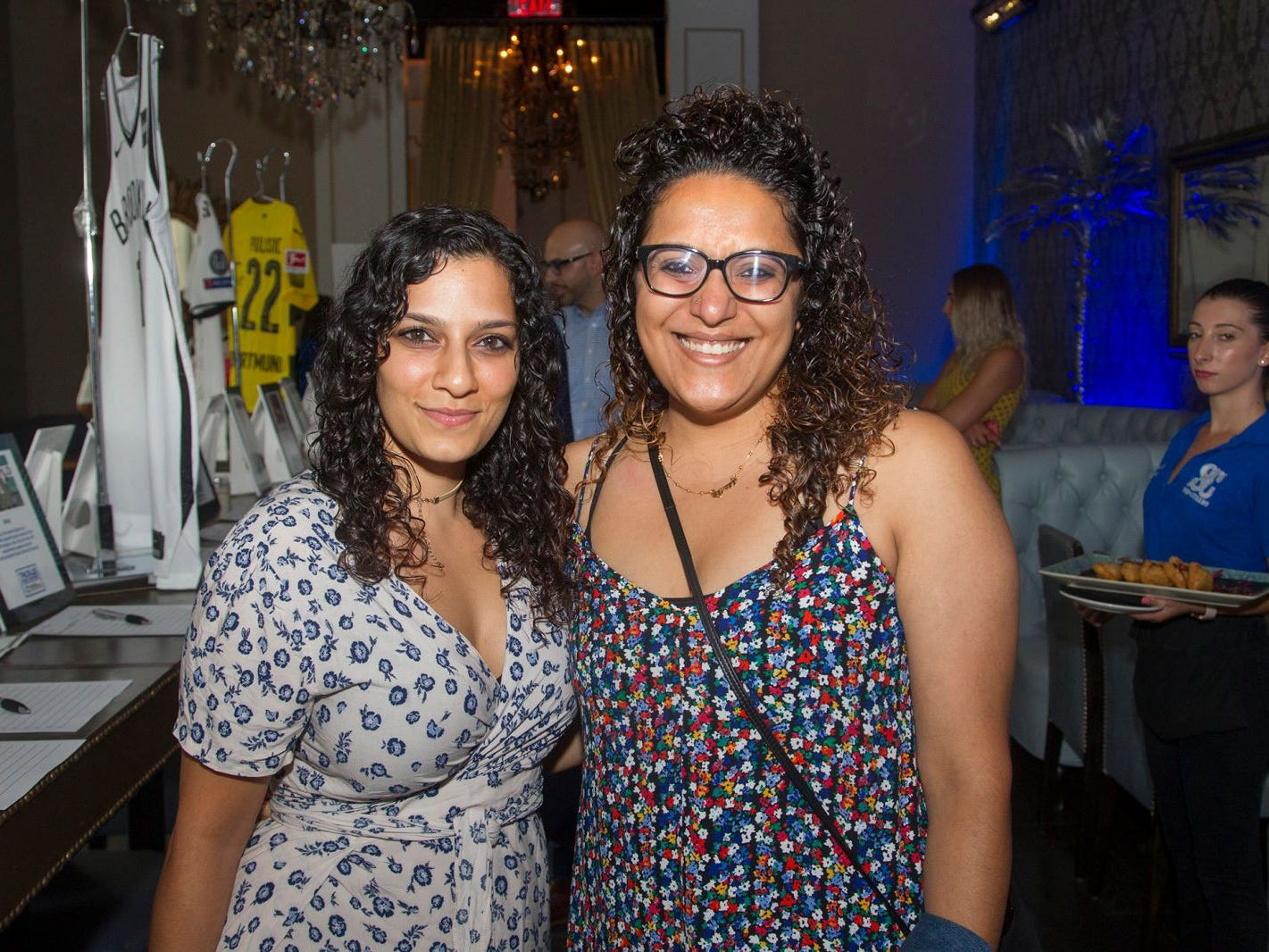Mohini Merchant and Raakhee Mirchandari. Summer Samba Night benefitting Tackle Kids Cancer hosted by Cara Robles, Luis Robles (NY Red Bulls Goalkeeper), Jennifer Farber, and Dr. Michael Farber at Son Cubano in West New York. 08/08/2018
