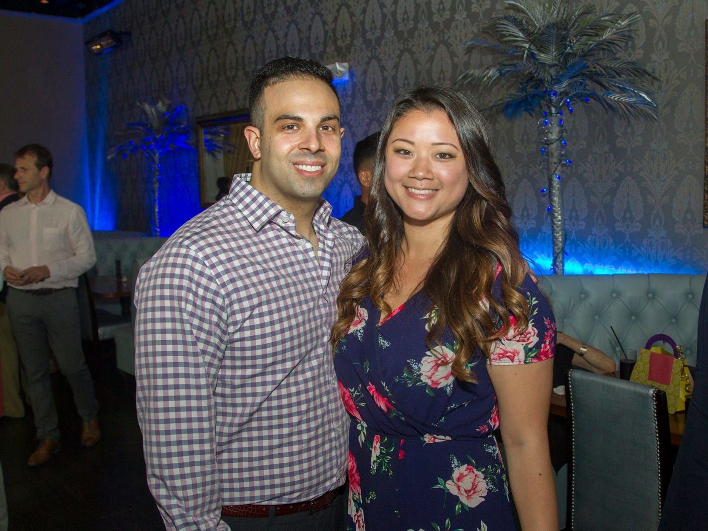 Craig Baraole and Aleyna Yamaguchi. Summer Samba Night benefitting Tackle Kids Cancer hosted by Cara Robles, Luis Robles (NY Red Bulls Goalkeeper), Jennifer Farber, and Dr. Michael Farber at Son Cubano in West New York. 08/08/2018