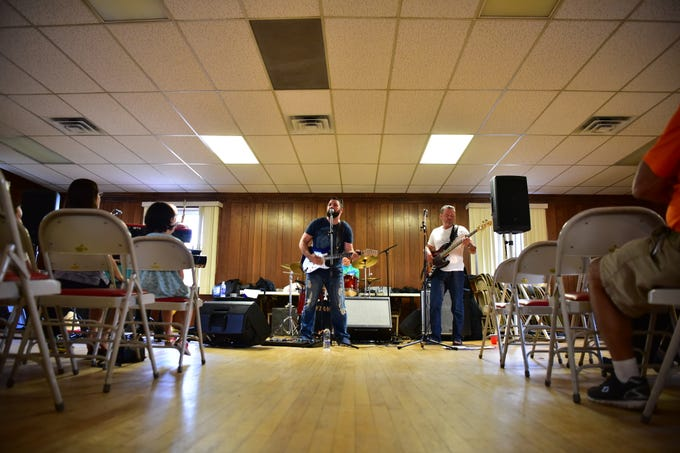 The New York Hitmen perform in Old Tappan on Wednesday.