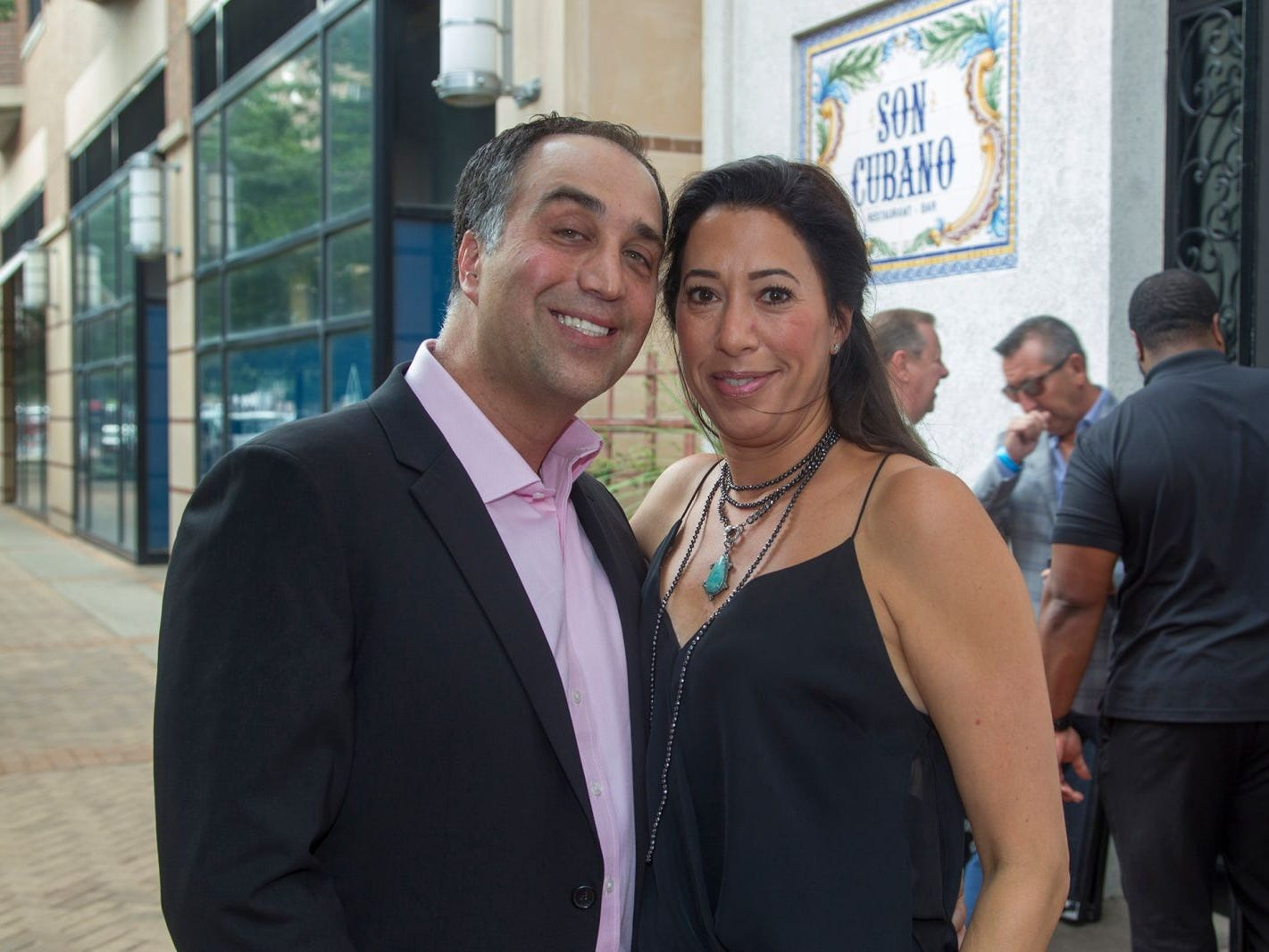 Dr. Michael Farber and Jennifer Farber. Summer Samba Night benefitting Tackle Kids Cancer hosted by Cara Robles, Luis Robles (NY Red Bulls Goalkeeper), Jennifer Farber, and Dr. Michael Farber at Son Cubano in West New York. 08/08/2018