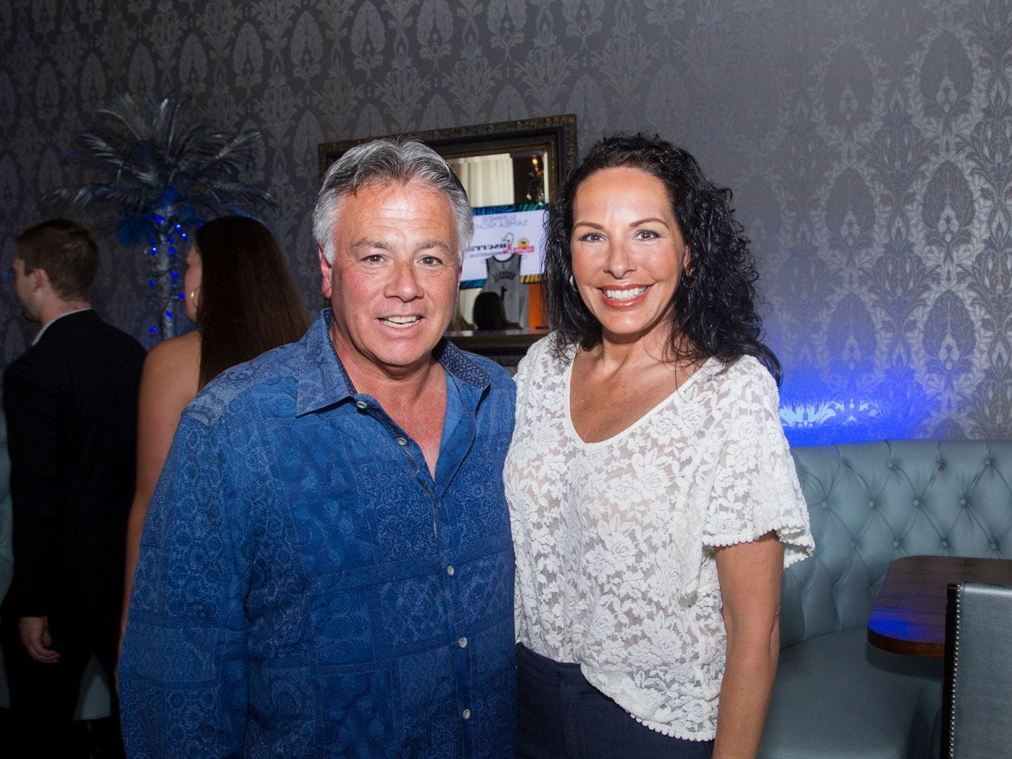 Larry and Inez Inserra. Summer Samba Night benefitting Tackle Kids Cancer hosted by Cara Robles, Luis Robles (NY Red Bulls Goalkeeper), Jennifer Farber, and Dr. Michael Farber at Son Cubano in West New York. 08/08/2018