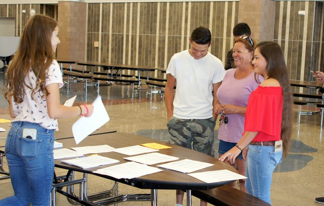 Parents and students were busy picking up schedules last week at Deming High School as the first step to getting acclimated to the start of a new school year in the Deming Public Schools.