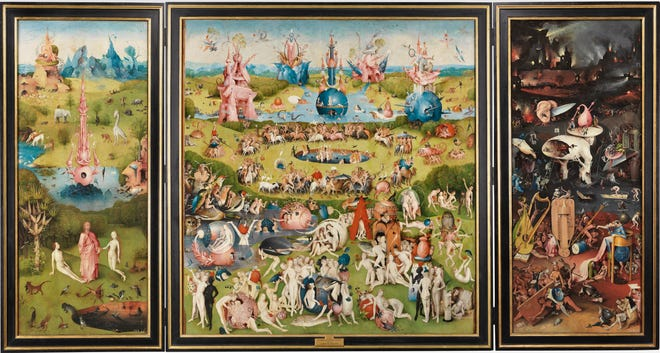 """""""The Garden of Earthly Delights"""" is one of the paintings from Museo Nacional del Prado, that will be on display in Las Cruces"""
