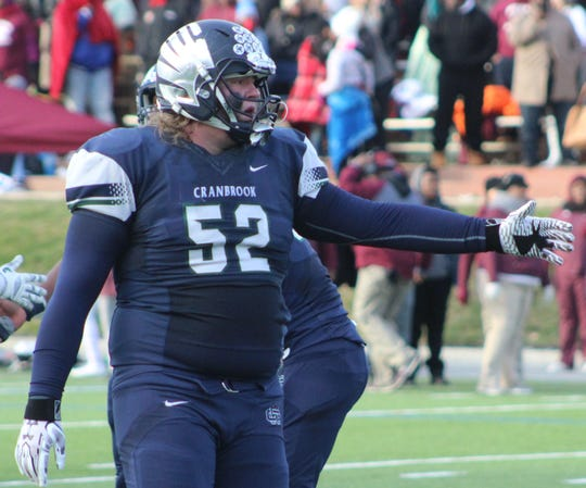 Two-way senior lineman Danny Files is expected to be a huge presence inside this season for Cranbrook Kingswood.