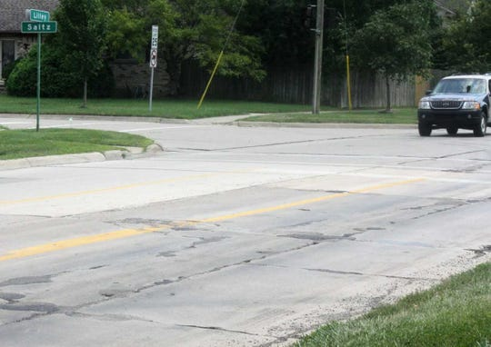 This stretch of road near the corner of Lilley and Saltz roads will test even the best set of shock absorbers.