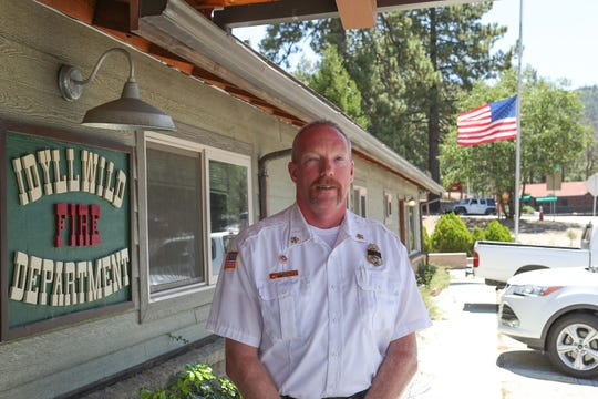 Idyllwild Fire Department Chief Patrick Reitz, August 6, 2018.