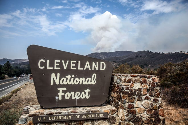 The Holy Fire burns in the Cleveland National Forest on Thursday, August 9, 2018.