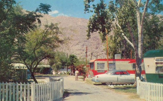 Orchard Trailer Park at 1862 S. Palm Canyon Dr., circa 1950
