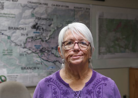 Rhonda Andrewson of the Idyllwild Fire Protection District board of commissioners, August 6, 2018.