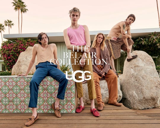 This UGG campaign shoot took place at the Frederick Loewe Estate in Palm Springs.