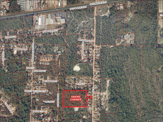 Santa Rosa County approved early steps toward construction of the Grand Chenier subdivision between Ponderosa Drive and Oak Drive in Gulf Breeze.
