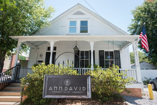 Exterior of the Ann David Gallery off Cervantes Street in East Hill, Pensacola on Wednesday, August 8, 2018