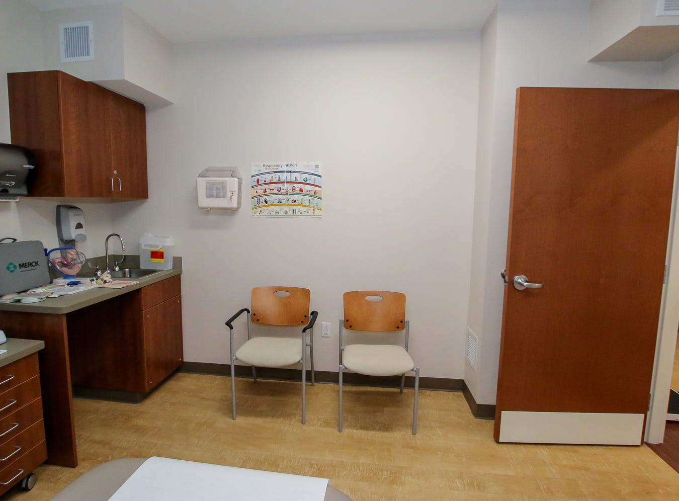One of the patient rooms in Baptist Medical Group's new Convenient Care Southtowne walk-in clinic in downtown Pensacola is shown during an open house on Thursday, August 9, 2018. Located across from the YMCA near the S. Tarragona intersection at 190 E. Intendencia St., the clinic will be open from 8 a.m. to 5 p.m. Monday through Friday.