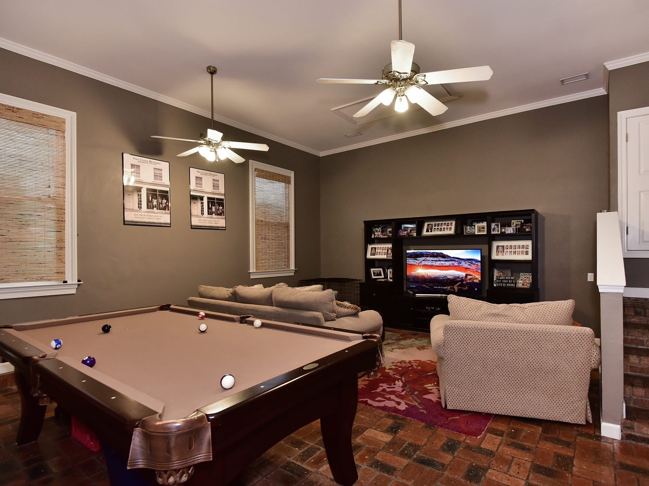 2474 Semur Rd., the playroom/media room is perfect when entertaining.