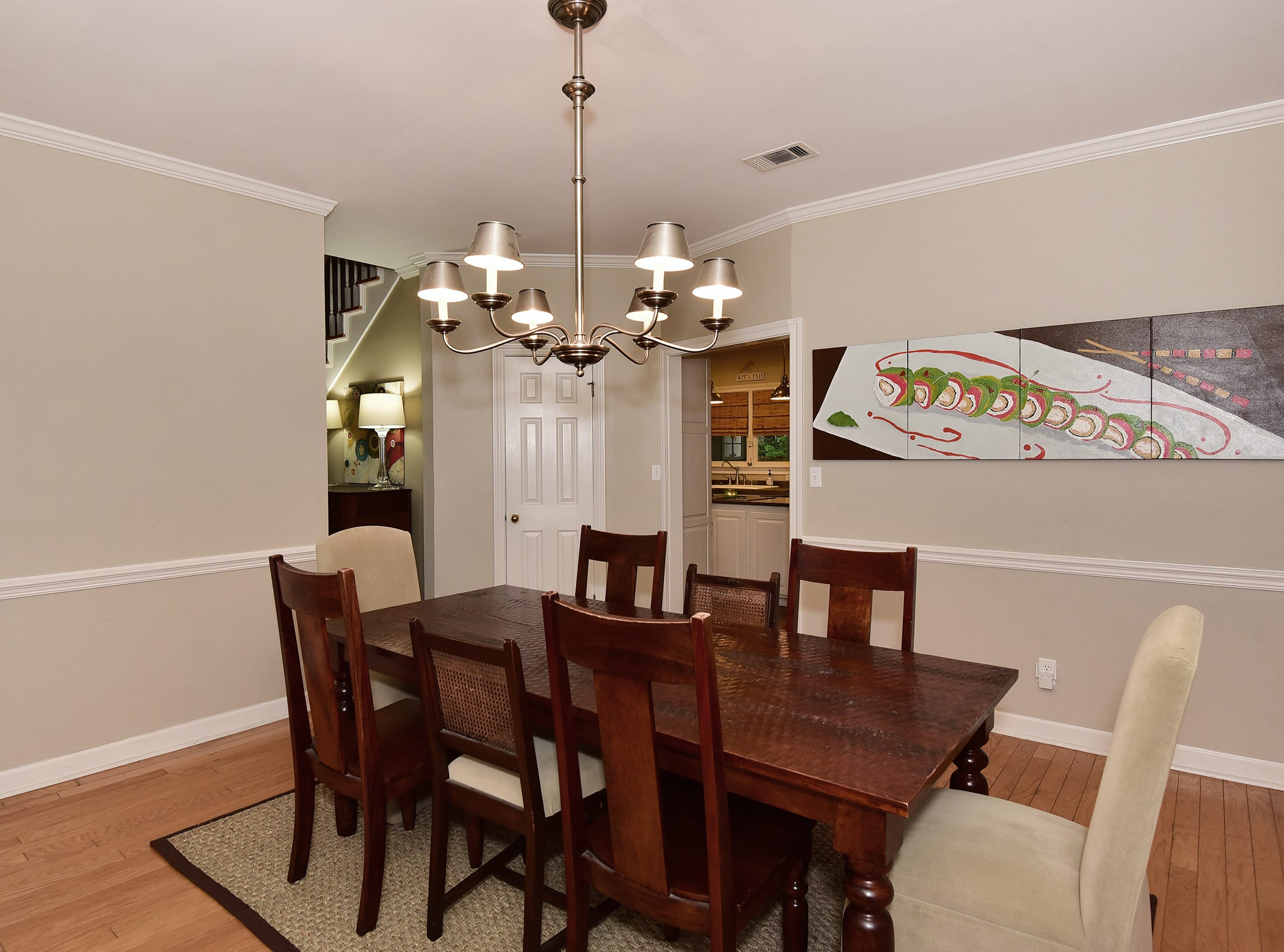 2474 Semur Rd., the formal dining space is private and near to the kitchen.
