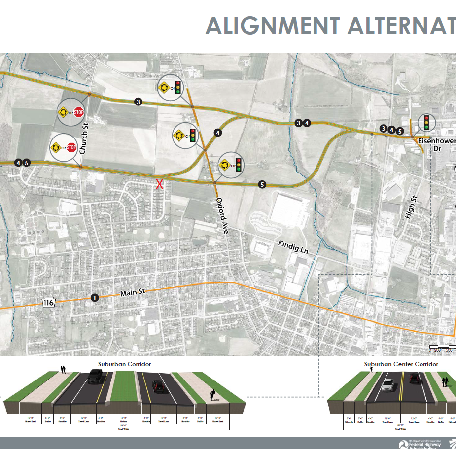 PennDOT is down to three options for the Eisenhower Extension Project