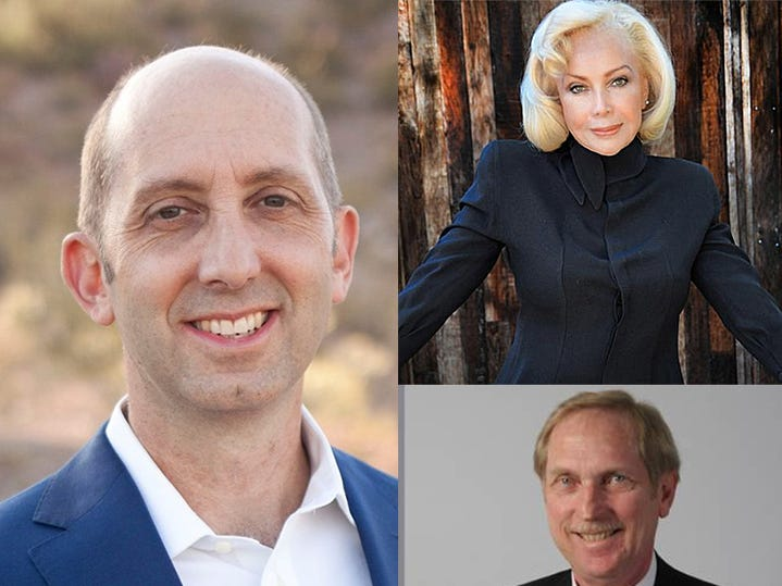 Steve Ferrara (left), Irina Baroness Von Behr (top) and David Giles (bottom) are seeking the GOP nomination in Congressional District 9.