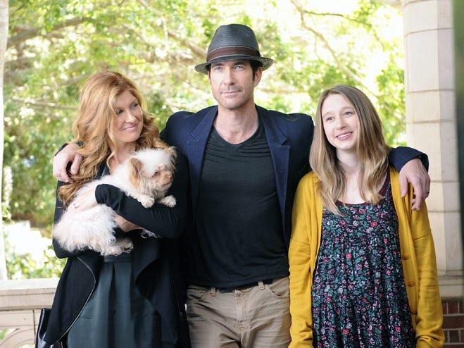 "Connie Britton as Vivien Harmon, Dylan McDermott as Ben Harmon, Taissa Farmiga as Violet Harmon in ""American Horror Story: Murder House"" on FX."