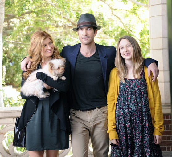 "Connie Britton as Vivien Harmon, Dylan McDermott as Ben Harmon, Taissa Farmiga as Violet Harmon in ""American Horror Story: Murder House"" on FX."