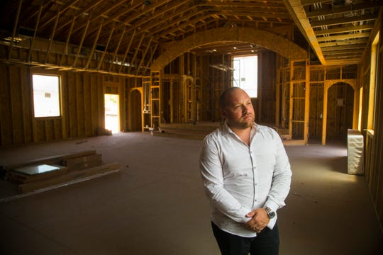 Ephrem Jando, Assyrian Church of the East project manager, stands inside the future Assyrian Church of the East in Gilbert on May 31, 2018.