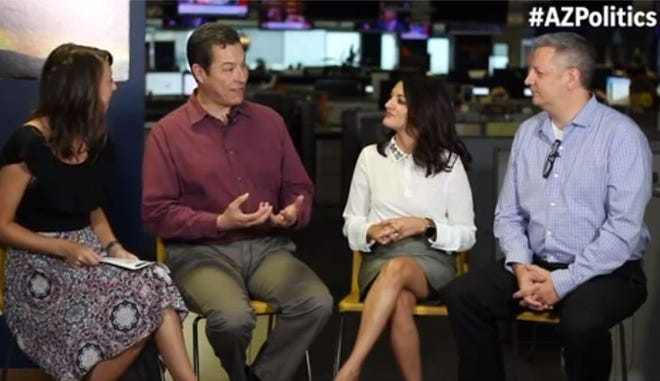 The Republic/azcentral.com's Maria Polletta (from left), Richard Ruelas, Yvonne Wingett Sanches and Ronald J. Hansen talk about Arizona's 2018 elections.