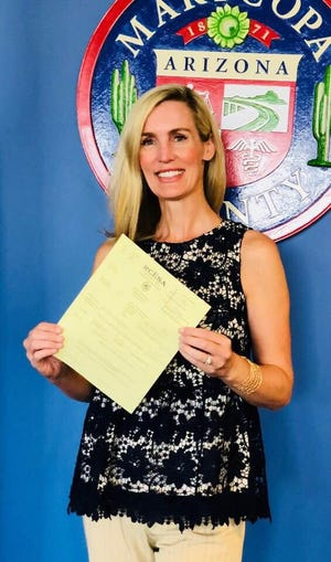 Patty Beckman, a Scottsdale parent who has been a vocal opponent of the board during several of their controversies, is one of three candidates running for one of two open seats on Scottsdale Unified School District's Governing Board.