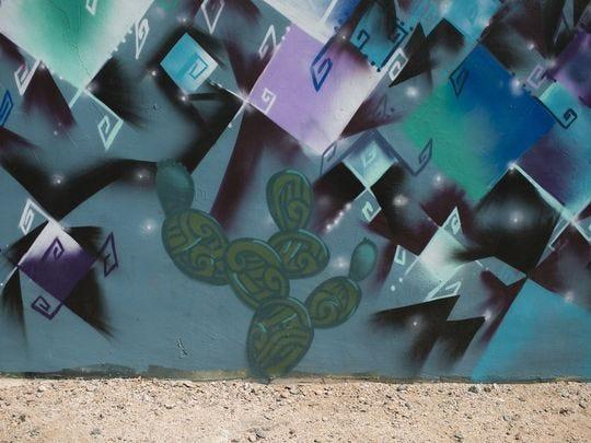Los murales cubren las paredes en el centro de Phoenix el 19 de julio de 2018.