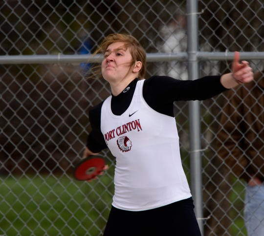 Port Clinton's Rachel Simpson qualified to state in the shot put and in the pool as a senior. She continues her throwing career at Ohio University.