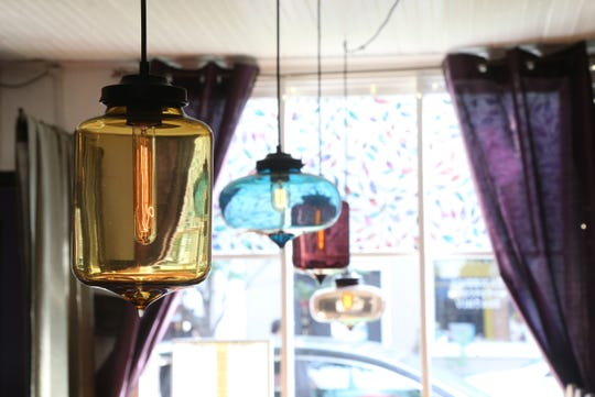 The decor inside Ziatun, a Palestinian Middle Eastern restaurant in Beacon on August 8, 2018.
