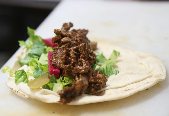 The lamb wrap at Ziatun, a Palestinian-Middle Eastern restaurant in Beacon on August 8, 2018.