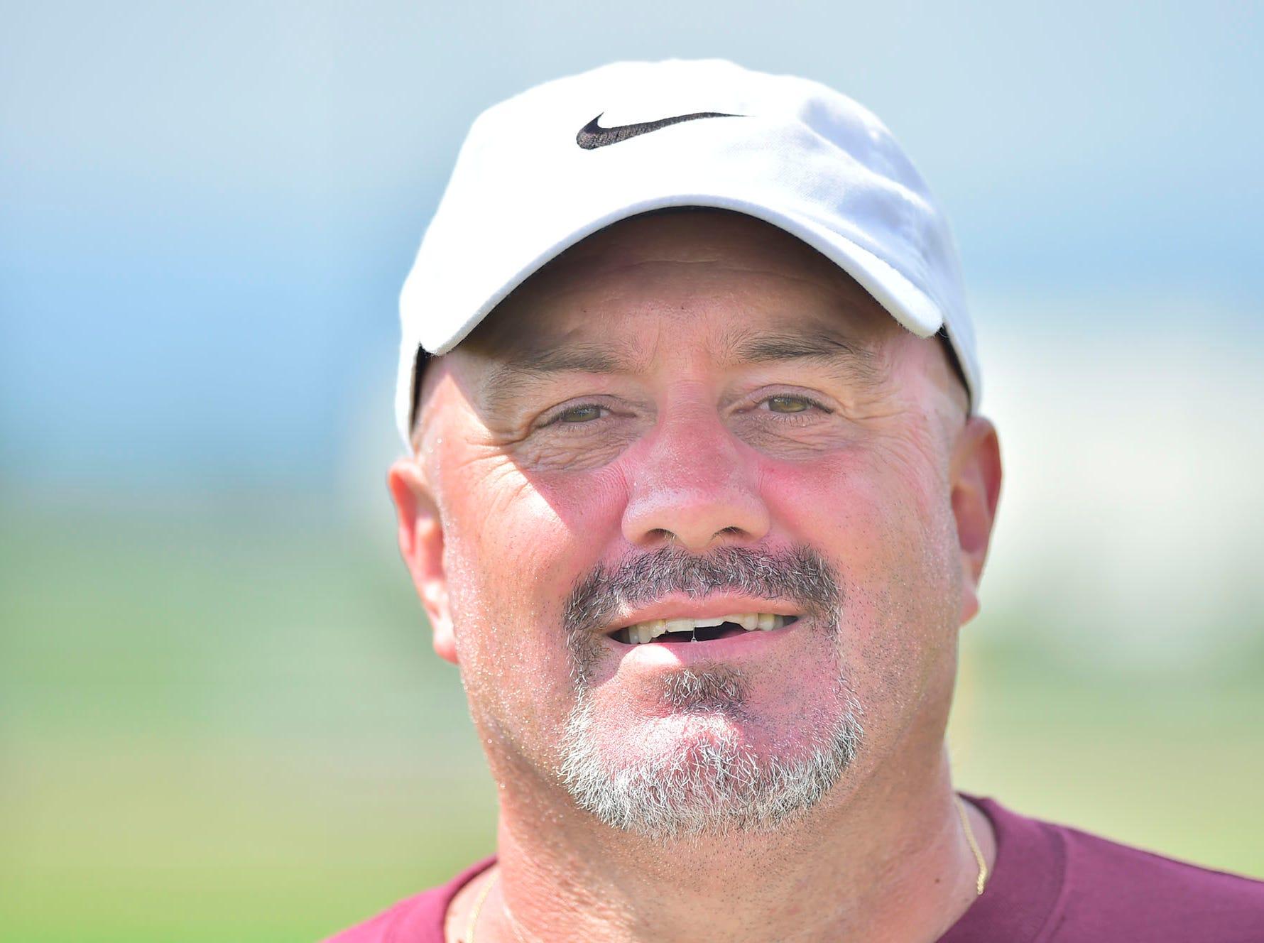 Eric Foust is back as Shippensburg Greyhound football coach. Shippensburg High School football players practice on Thursday, August 9, 2018.