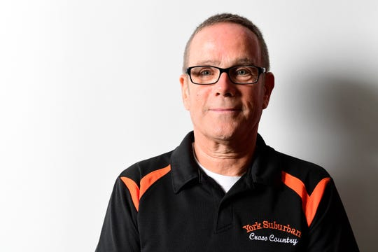 York Suburban cross country head coach John Enders.