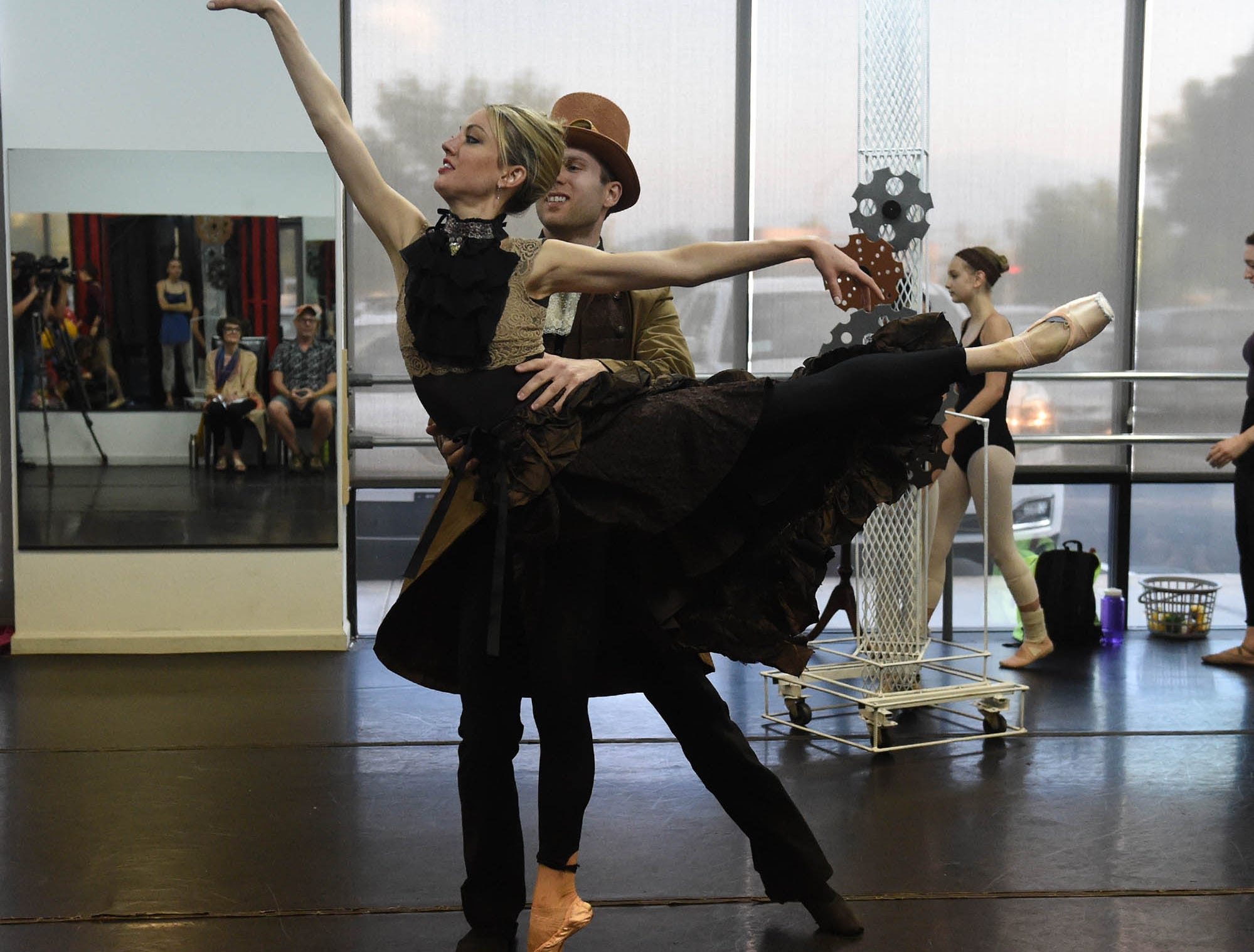 Dancers rehearse for the Sierra Nevada Nevada Ballet's steampunk version of A Midsummer Night's Dream - The Ballet at the Sierra Nevada Ballet dance studio in Reno. Show time is August 11th at the Carson City Community Center.