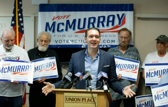 Democrat Nate McMurray, challenger to U.S. Rep. Christopher Collins, addresses Collins' decision to remain in the race despite his arrest yesterday on charges of insider trading and lying to the FBI.