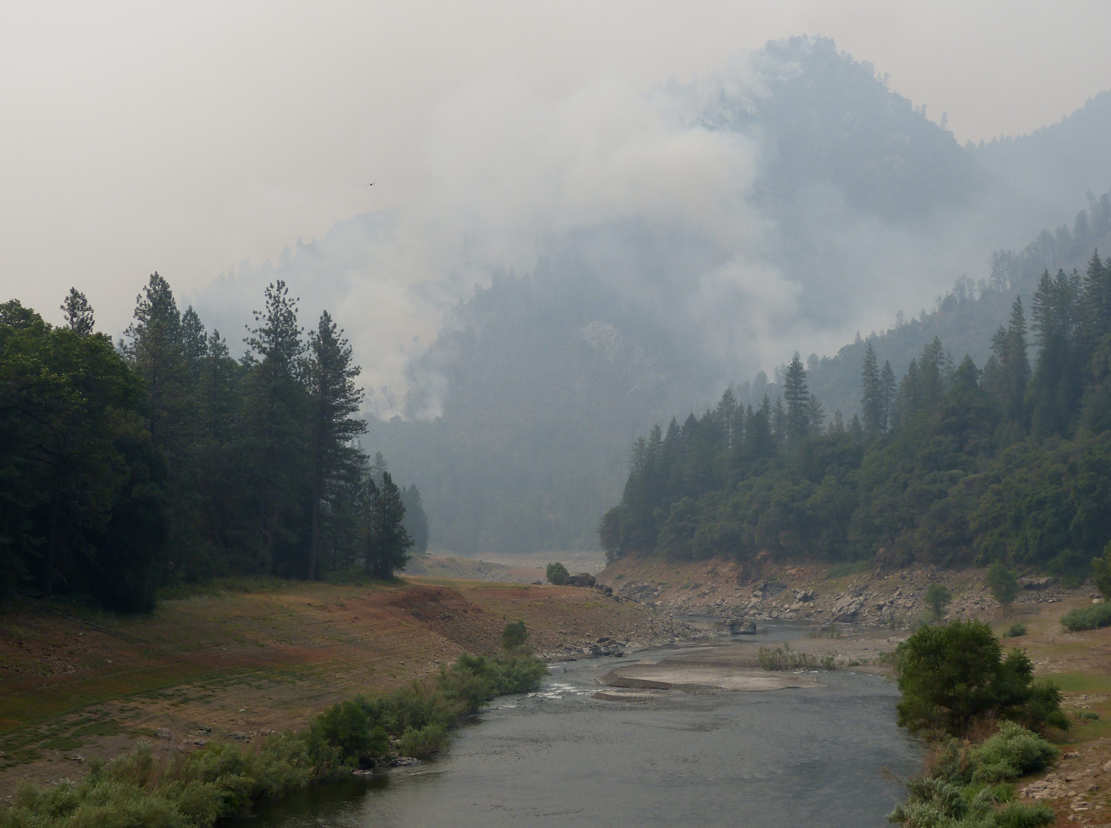 The Hirz Fires burning off Gilman Road north of Redding are three separate fires.