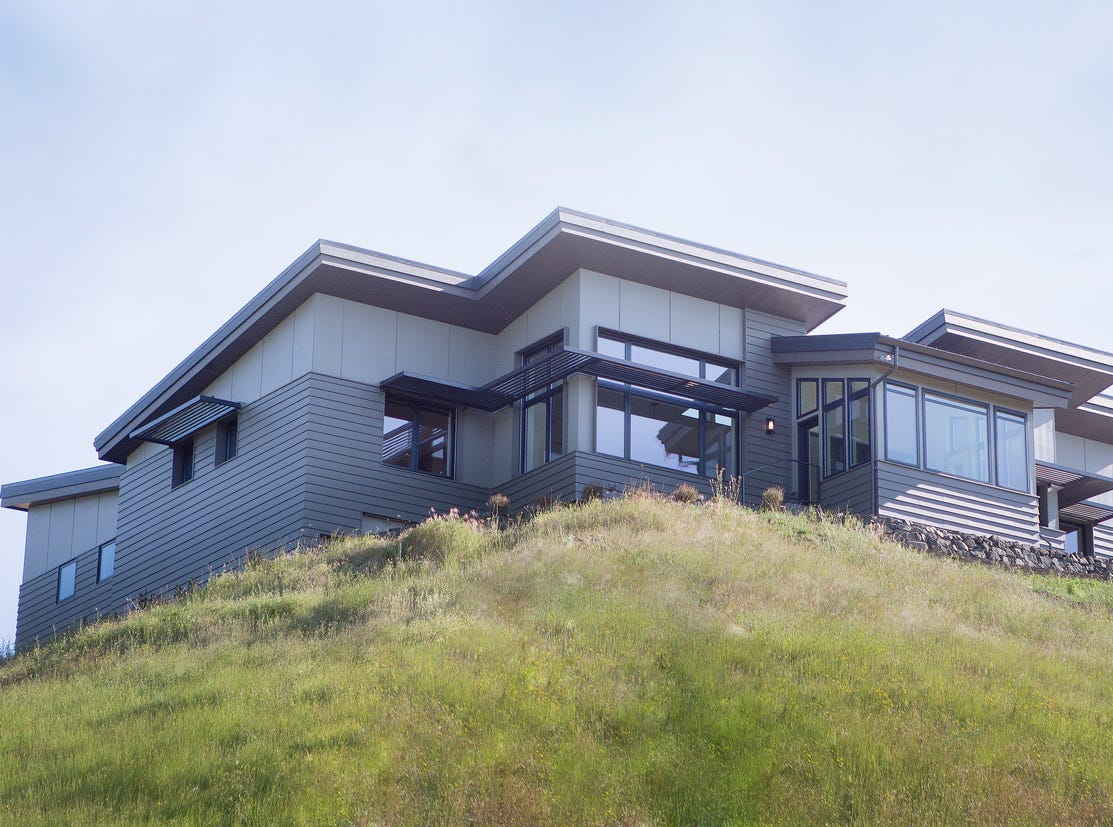 Nathan Good Architect's Philomath Passive House became a certified Passive House 2015. The home generates more energy than it consumes on an annual basis.
