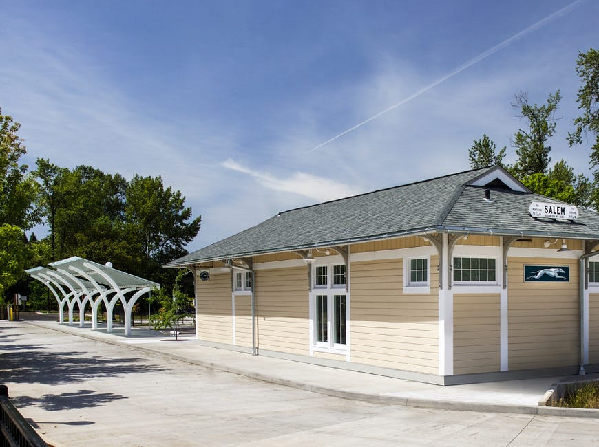 One of Nathan Good Architect's local projects has been the rehabilitation of the old Baggage Depot next to Salem's Amtrak Station. The new Greyhound bus depot includes canopies for bus passengers, while historic materials, finishes, and distinctive features have been preserved to breathe a new life into this vital part of Salem's history.