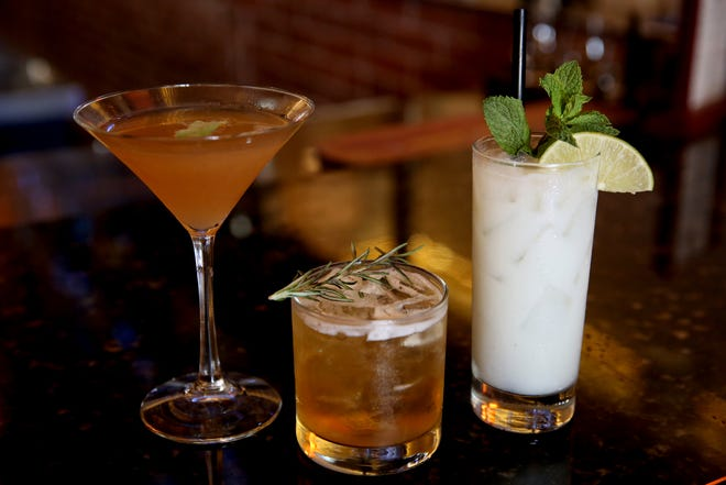 The Pony Express, from left, the Fine & Dandy and the Loco Mojito cocktails at W. Wallace in downtown Salem on Wednesday, Aug. 8, 2018.