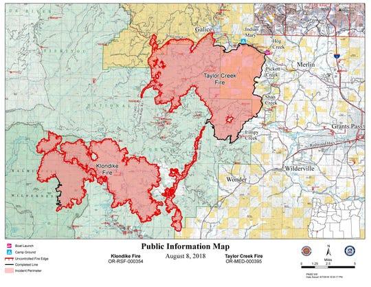 Klondike Fire as of August 8