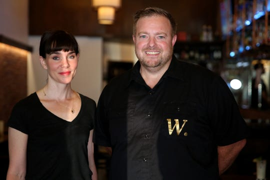 Colleen S. French, the executive chef, and Toby Ogdahl, the owner of W. Wallace in downtown Salem on Wednesday, Aug. 8, 2018.